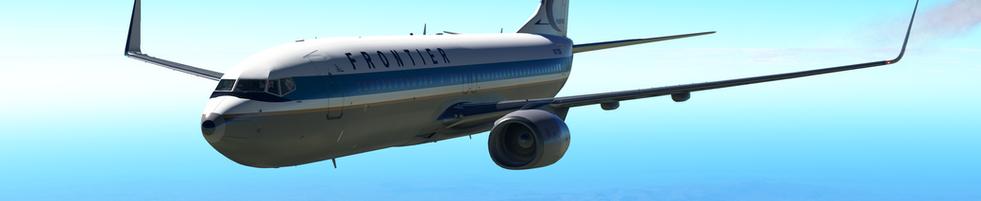 FRONTIER AIRLINES ZIBO 737 CRUISING BETWEEN KSLC AND KDEN
