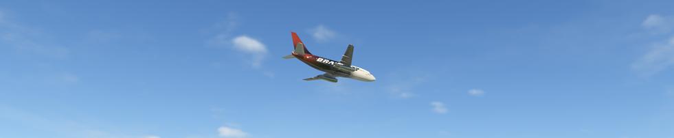 FLYJSIM BRAVO 737-200 FLYING OVER DALLAS, TEXAS, USA