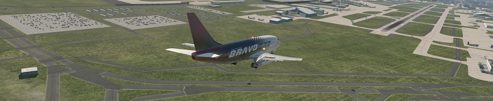 BRAVO 737-200 LINED UP FOR FINAL APPROACH IN KDAL