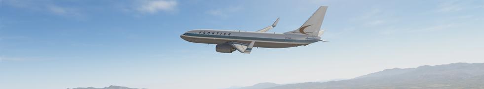 FROTNIER ZIBO 737 CLIMBING OUT OF KSLC