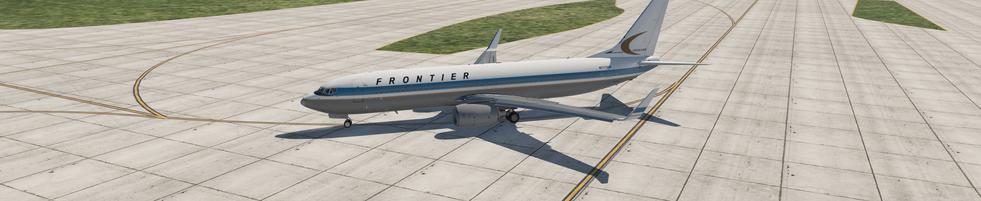 FRONTIER ZIBO 737 TAXING AT KSLC