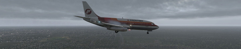 FRONTIER AIRLINES 737-200 ON APPROACH TO KORD