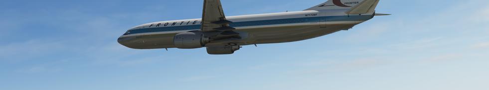 FRONTIER ZIBO 737 CLIMBING OVER ROCKIES FROM KSLC