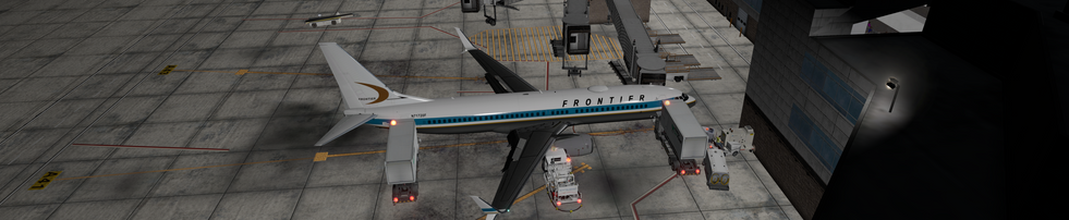 FRONTIER AIRLINES PARKED AT KDEN