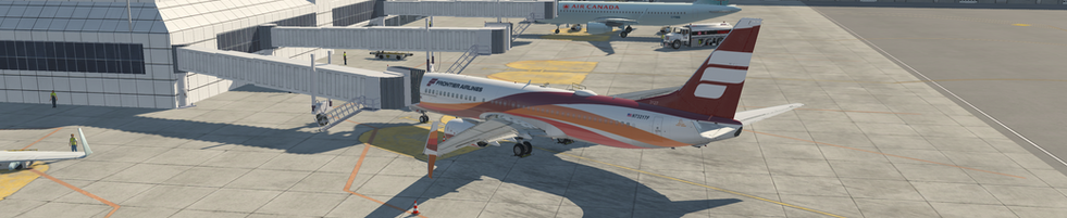 REIMAGINED FRONTIER AIRLINES PARKED AT KLAX