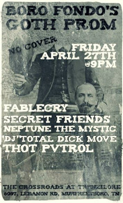 Boro Fondo Goth Prom show flyer