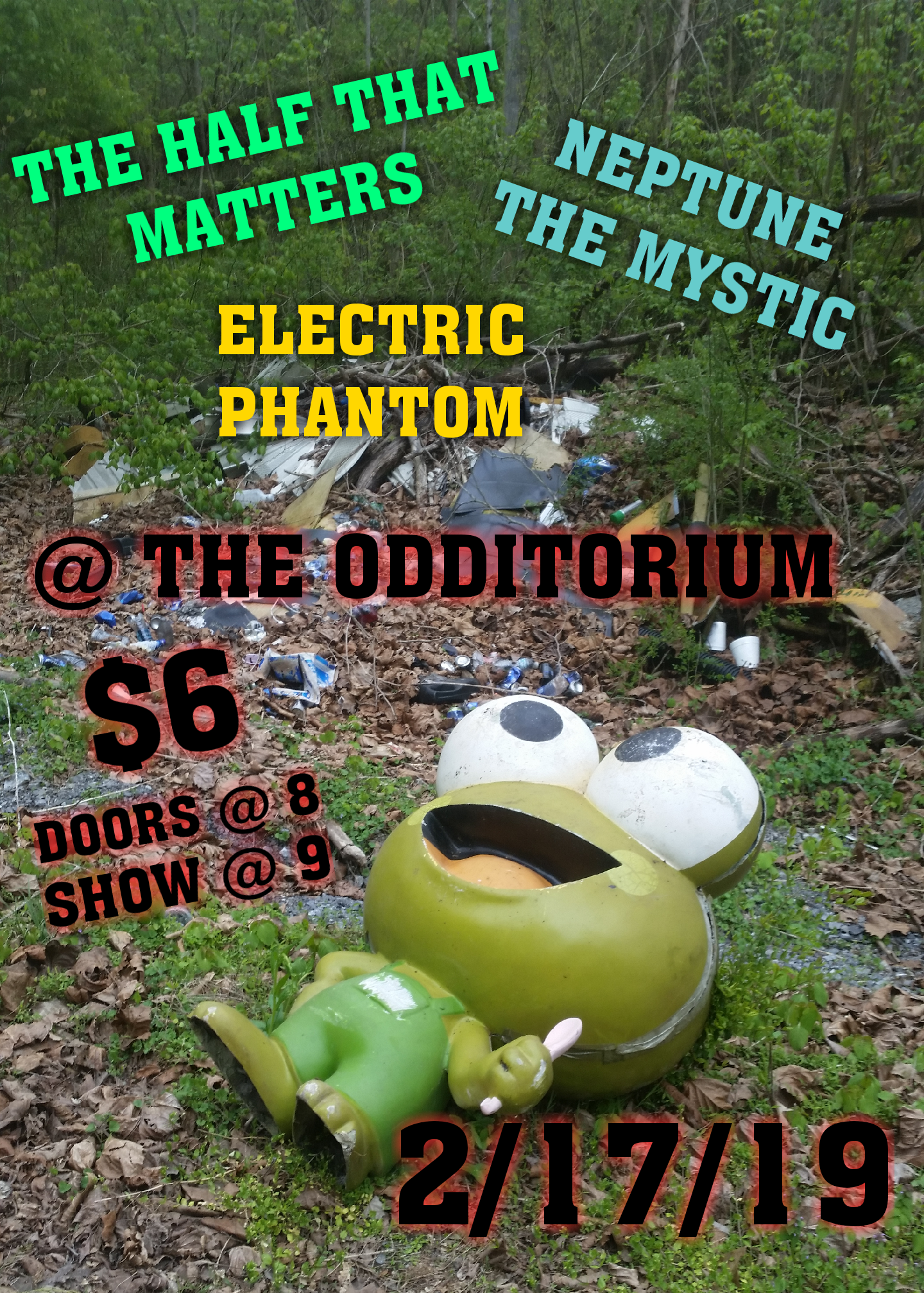 The Odditorium show flyer