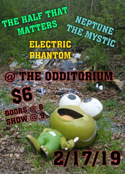 The Odditorium show flyer