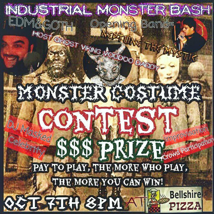 Industrial Monster Bash show flyer