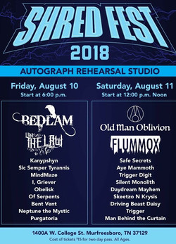 Shred Fest show flyer