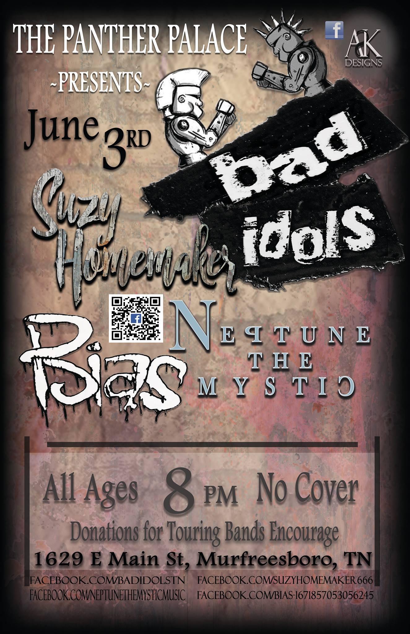 Bad Idols show flyer