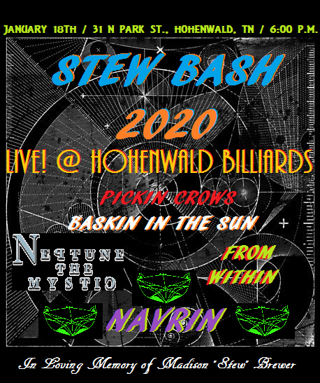 Stew Bash show flyer