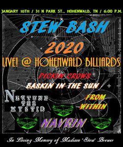 Stew Bash show flyer
