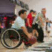 Man in Wheelchair Bowling