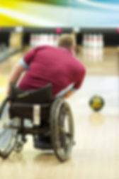 Man in Wheelchair Bowling