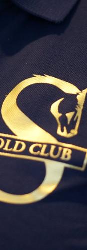 Gold Club Logo on Breast Pocket