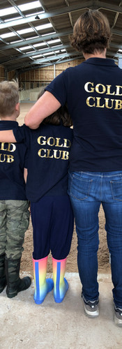 Gold Club Embossed Back