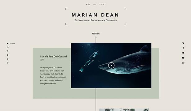 Creative Arts website templates – Filmography