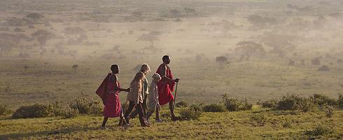 Walk with the Masai - Walking - Trekking Safari that we organize from Maji Moto Eco Camp