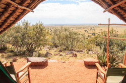 Spectacular view from your tent only at Maji Moto Eco Camp, the camp with a view!