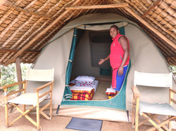 Maji Moto Eco Camp has 10 tents all privately positioned with a view over savannah.