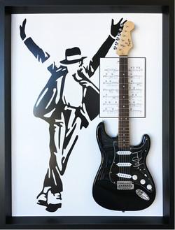 Memorabilia Framing-music-Framed Guitar-Signed Michael Jackson Guitar copy