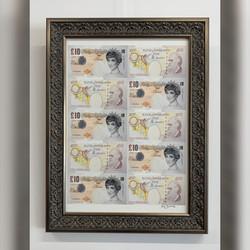 Framing-modernart-Mrs Banksy-gold ornate frameIMG
