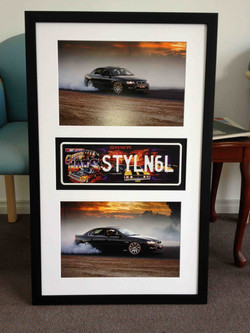 Racing Memorabilia- Milford Framers-Framed number plate- pride-and-joy
