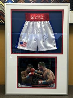 Memorabilia Framing-sports-Boxing shorts IMG_2049 copy