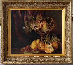 Original Artwork- Ornate Frame- Milford Framers