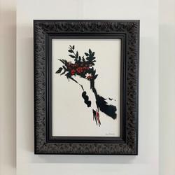 Framing-modernart-Mrs Banksy-black ornate frameIMG_0602