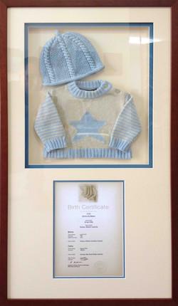 Object box- framed clothing- Milford Framers