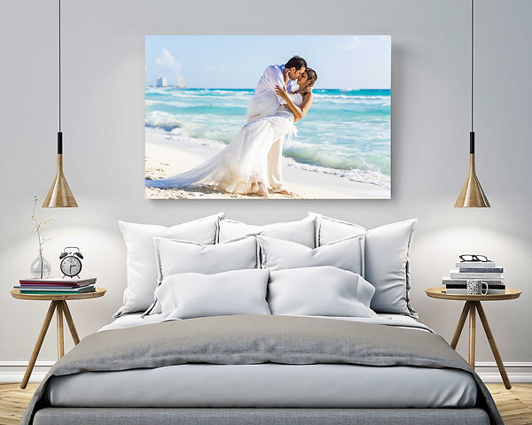 Acrylic Face Mount is a high-end digital print finishing technique. Wedding Photo