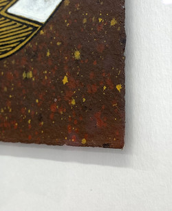 Timber Frame- floated artwork-Aboriginal painting of Fish 3