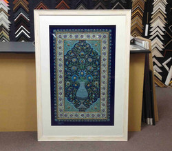 Object box- Embroidered Indian Rug- Milford Framers.jpg