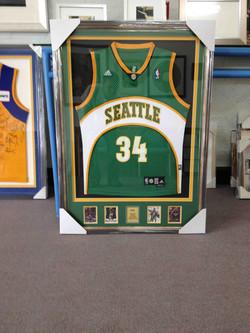 Basketball Memorabilia- Seattle- Milford Framers