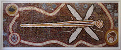 Canvas Stretching- Aboriginal painting