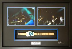 Music Memorabilia- Milford Framers- Framed drumsticks