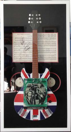 Music Memorabilia- Framed Guitar 2- Milford Framers