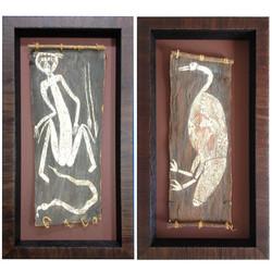 Aboriginal Bark Painting1&2-sq