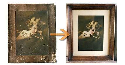 Photo restoration, photo scanning, photo reproduction