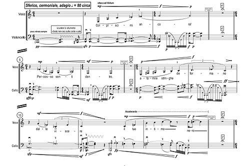 Troubadour - four pieces for voice and cello