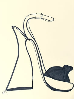Billy Cone draws chunky heels with ankle strap