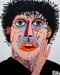 Philip Glass Composer, Billy Cone Acrylic On Canvas, 48 inches by 60 inches Faceture Painting