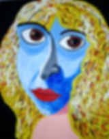 Lillian Gish, Silent Movie Actress, Billy Cone Acrylic On Canvas, 48 inches by 60 inches Faceture Painting