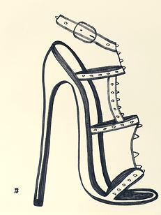 Billy Cone draws ultra high heel sandals