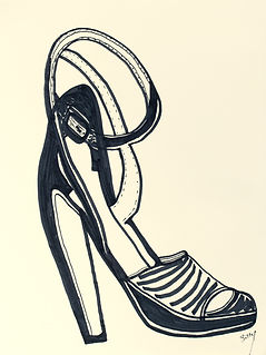Billy Cone draws ankle wrap open toe sandals