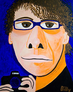 Self-portrait of Billy Cone, Billy Cone Acrylic On Canvas, 48 inches by 60 inches Faceture Painting