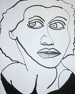 Famous American Model, Billy Cone Acrylic On Canvas, 48 inches by 60 inches Faceture Painting