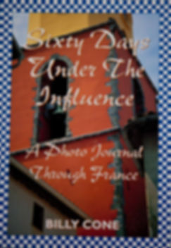 Billy Cone writes about solo travel in France in his first photo journal called Sixty Days Under The Influence--A Photo Journal Through France.  This book is a timeless account of Billy Cone's two month trip to France in colorful pictures and enlightening writing.  A fun timeless read.